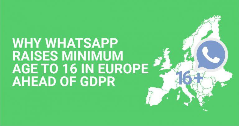 WhatsApp aumenta idade mínima para 16 anos na Europa em resposta ao regulamento GDPR