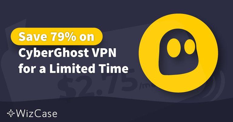 Cupão válido para a VPN do CyberGhost em 2020: Poupe já até 79%